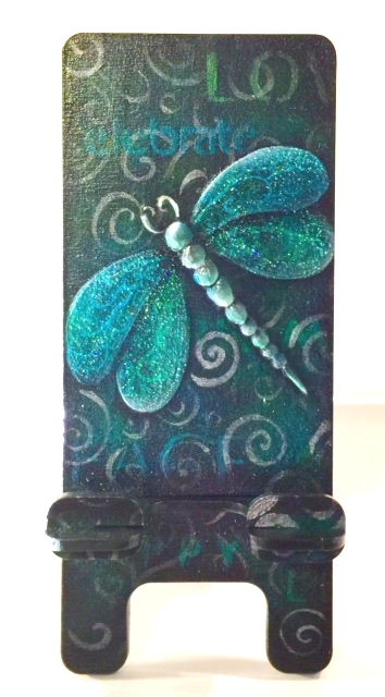 Dragonfly Phone Stand - E-Packet - Lonna Lamb