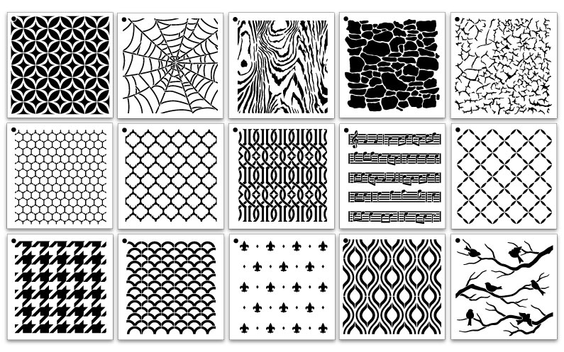 6x6 Pattern Stencil Set - Vol 2.