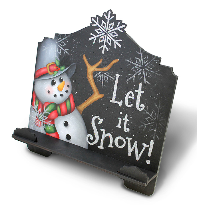 Let It Snow Cookbook Stand Pattern Packet - Patricia Rawlinson