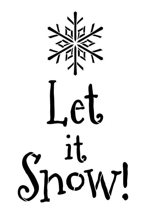"Let It Snow with Snowflake Word Art - 8"" X 12"""