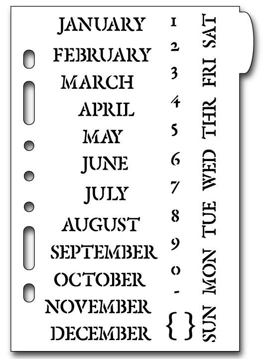 Classic Calendar Planner Stencil