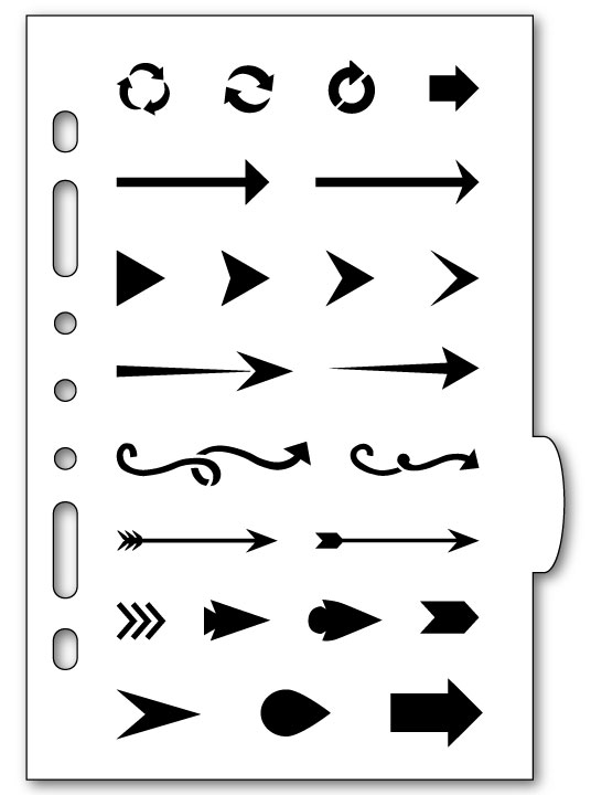 Awesome Arrows Planner Stencil