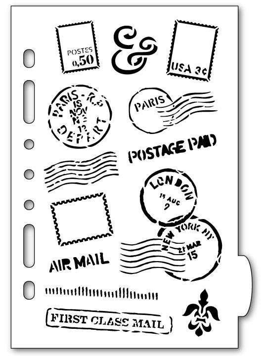 Mail Art Planner Stencil