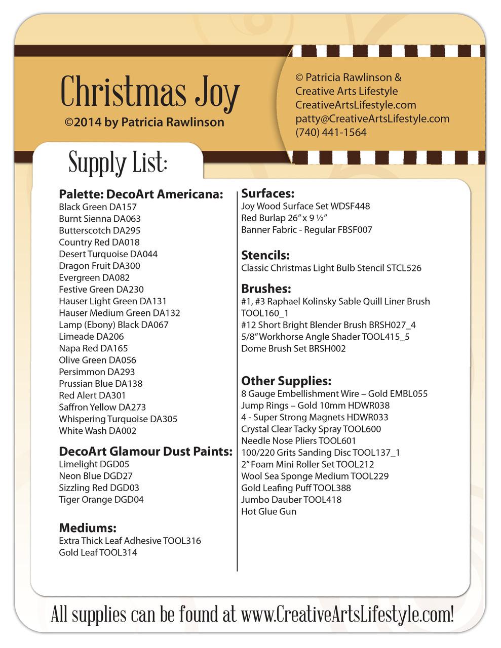 Christmas Joy DVD and Pattern Packet - Patricia Rawlinson