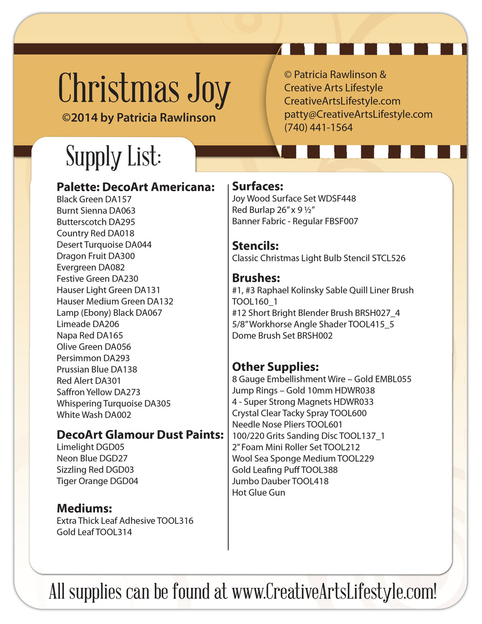Country Joy E-Packet - Digital Download - Patricia Rawlinson