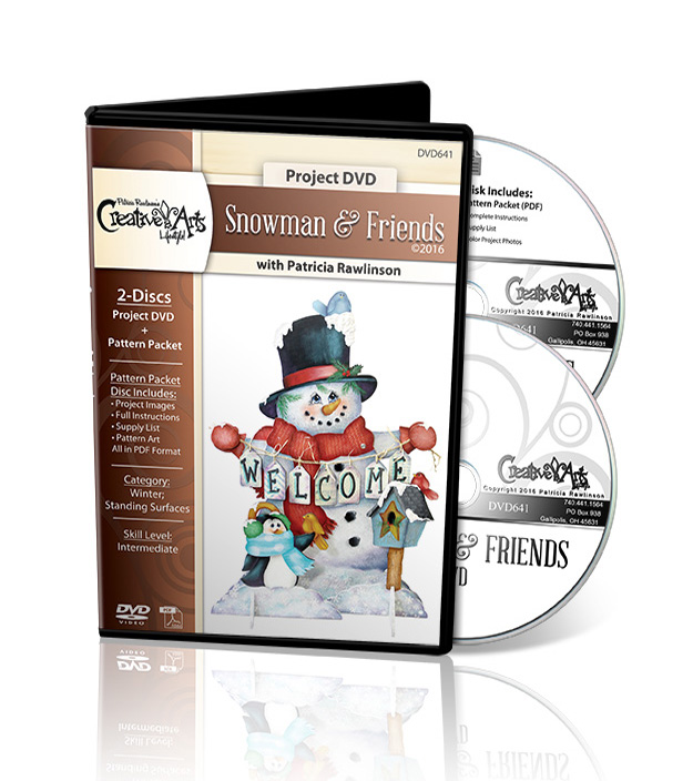 Snowman and Friends DVD and Pattern Packet - Patricia Rawlinson