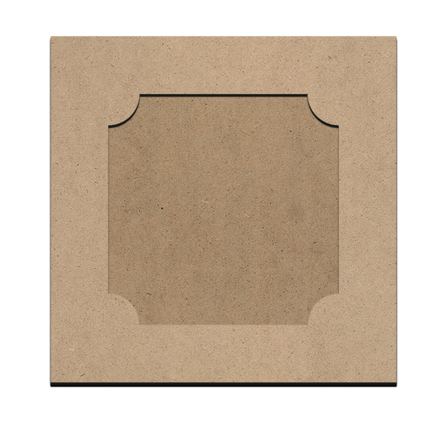 "Simply Elegant Square Frame with Underlay - 9"" x 9"""