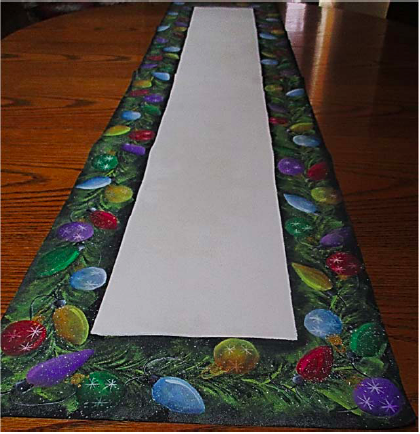 Ornaments and Lights Table Runner - E-Packet - Ann Perz