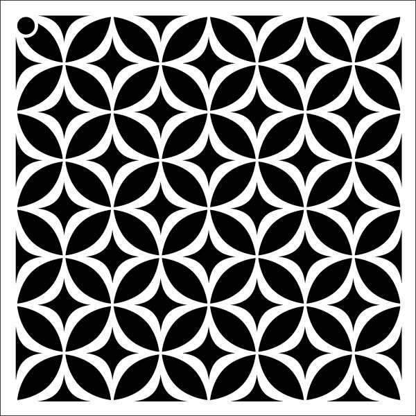 "Circle Star - Repeatable Pattern Stencil - 6"" x 6"""