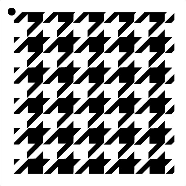 """Houndstooth - Repeatable Pattern Stencil - 6"""" x 6"""""""