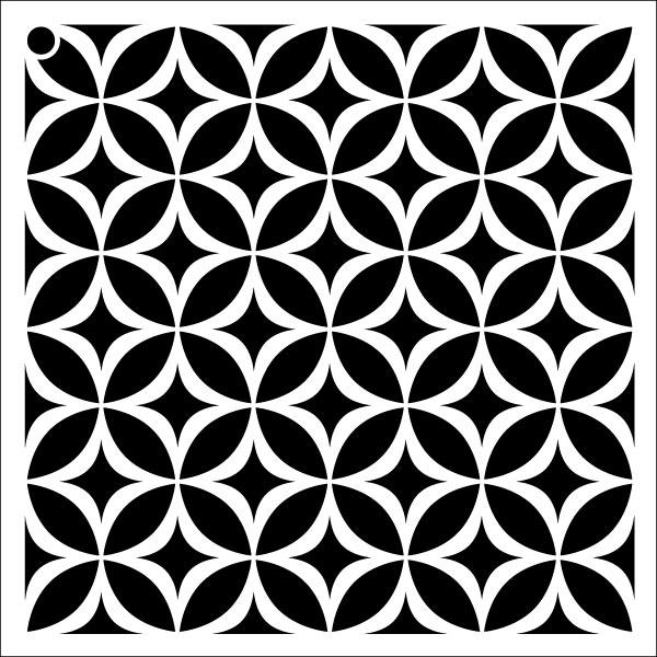 "Circle Star - Repeatable Pattern Stencil - 9"" x 9"""