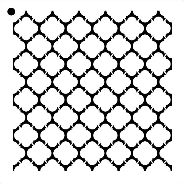 "Quatrefoil - Repeatable Pattern Stencil - 18"" x 18"" - STCL1028_5 - by StudioR12"