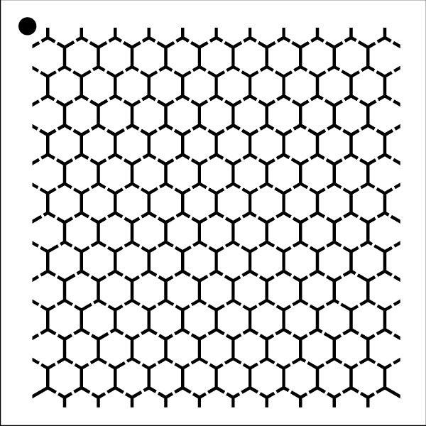 "Reverse Honeycomb - Repeatable Pattern Stencil - 12"" x 12"""