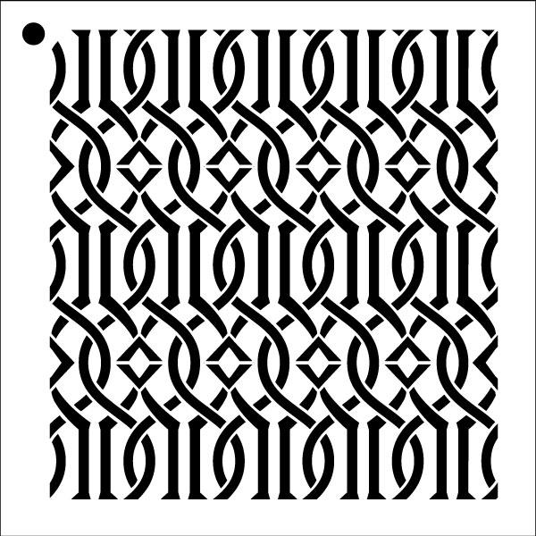 "Trellis - Repeatable Pattern Stencil - 12"" x 12"" - STCL1023_3 - by StudioR12"