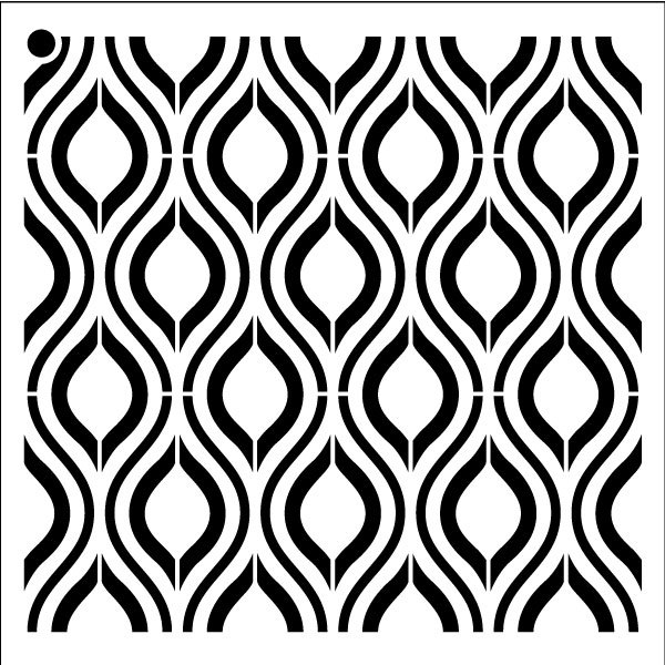 "Ogee - Repeatable Pattern Stencil - 18"" x 18"" - STCL1024_5 - by StudioR12"