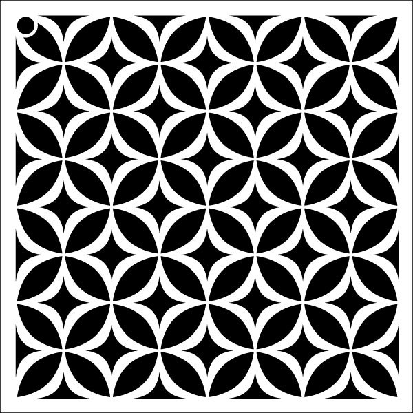 "Circle Star - Repeatable Pattern Stencil - 18"" x 18"""
