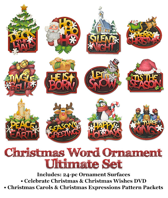 Christmas Word Ornaments Ultimate Set