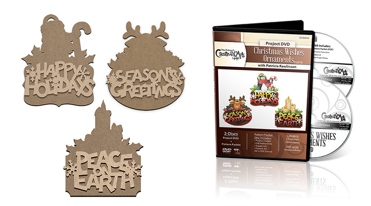 Christmas Wishes Ornament DVD + Surface Set