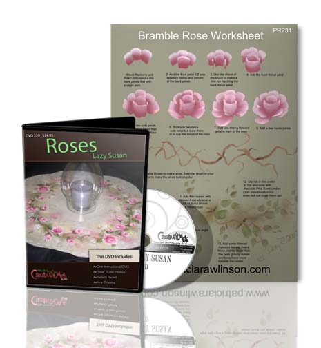 Roses Lazy Susan DVD & Worksheet Set