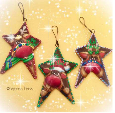 Rusty Reindeer Ornaments - E-Packet - Sharon Cook