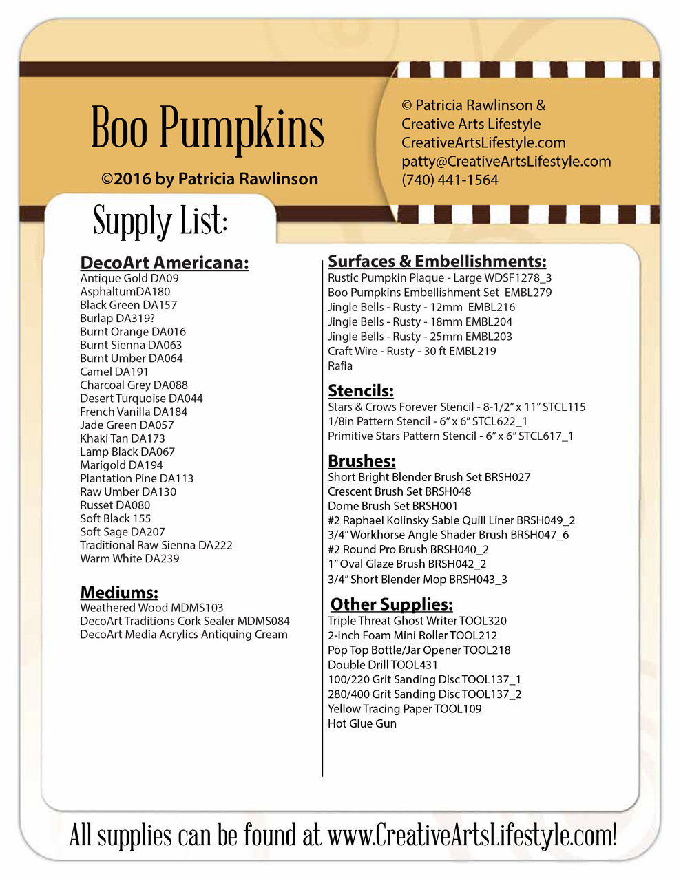 Boo Pumpkins Pattern Packet by Patricia Rawlinson