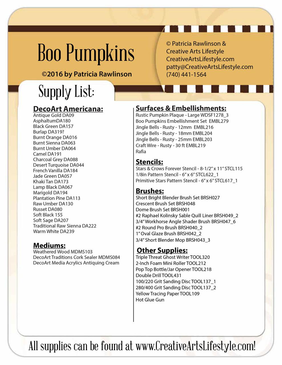 Boo Pumpkins - E-Packet - Patricia Rawlinson