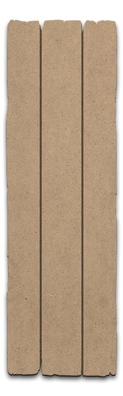 Rustic Long Rectangle Plaque -Medium