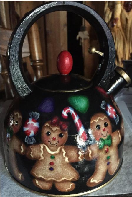 Gingerbread Boy & Girl Tea Pot - E-Packet - Debbie Huska