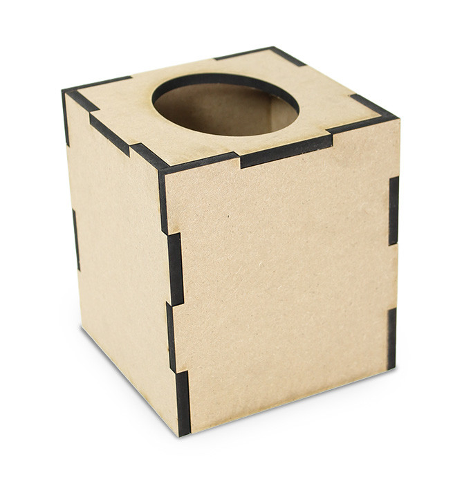 Simple Square Tissue Box - 5in