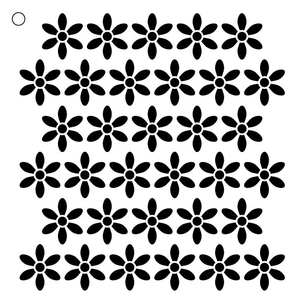"Daisy Pattern Stencil - 15"" X 15"""