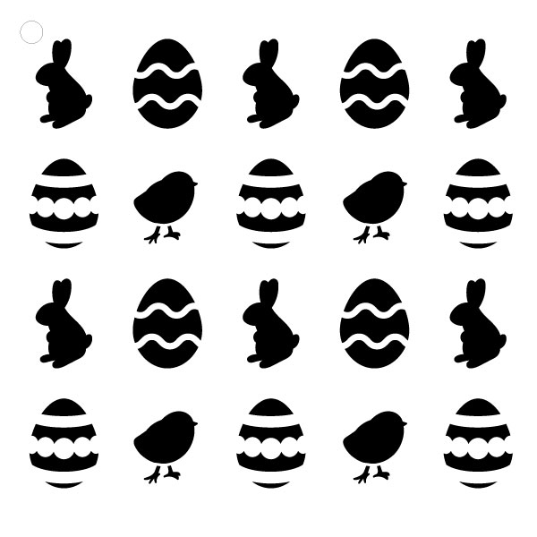 "Hoppy Easter -Pattern Stencil - 6"" X 6"""