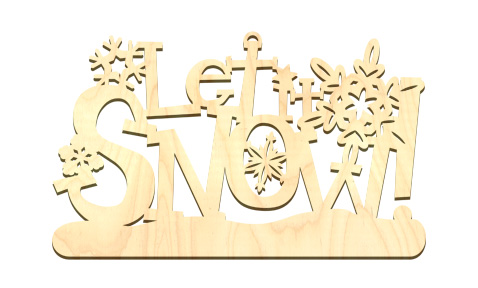 Standing Word Surface - Let It Snow