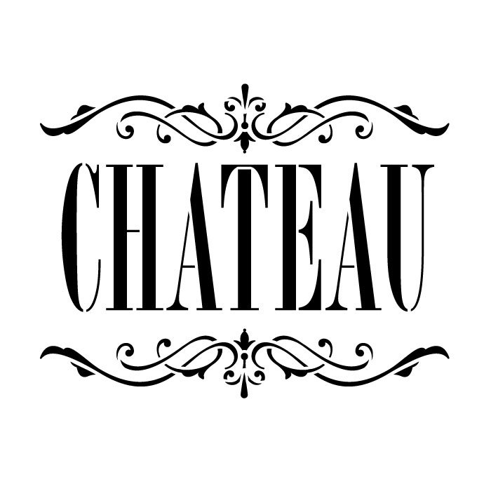 "Chateau Word Art Stencil - Skinny Classic - 12"" x 12"""
