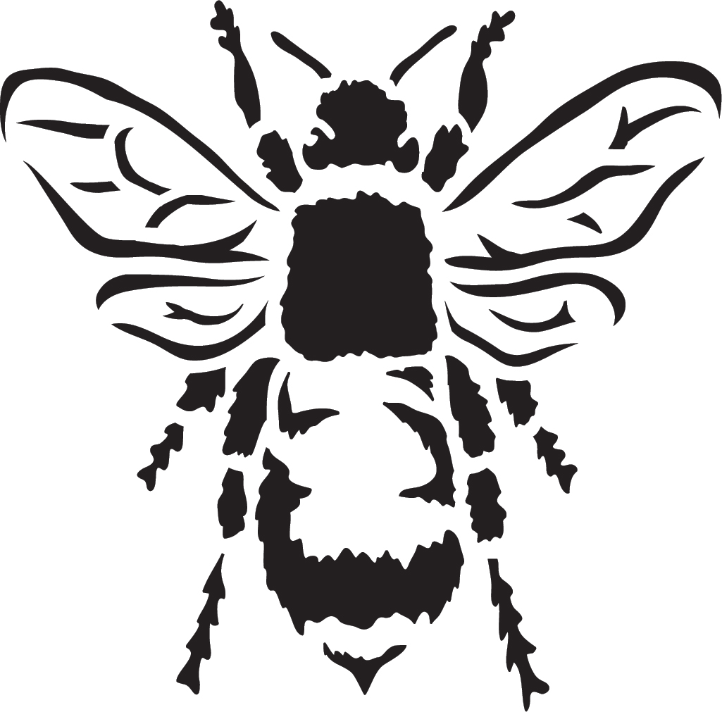 "Basic Bee - Art Stencil - 6"" x 6"""