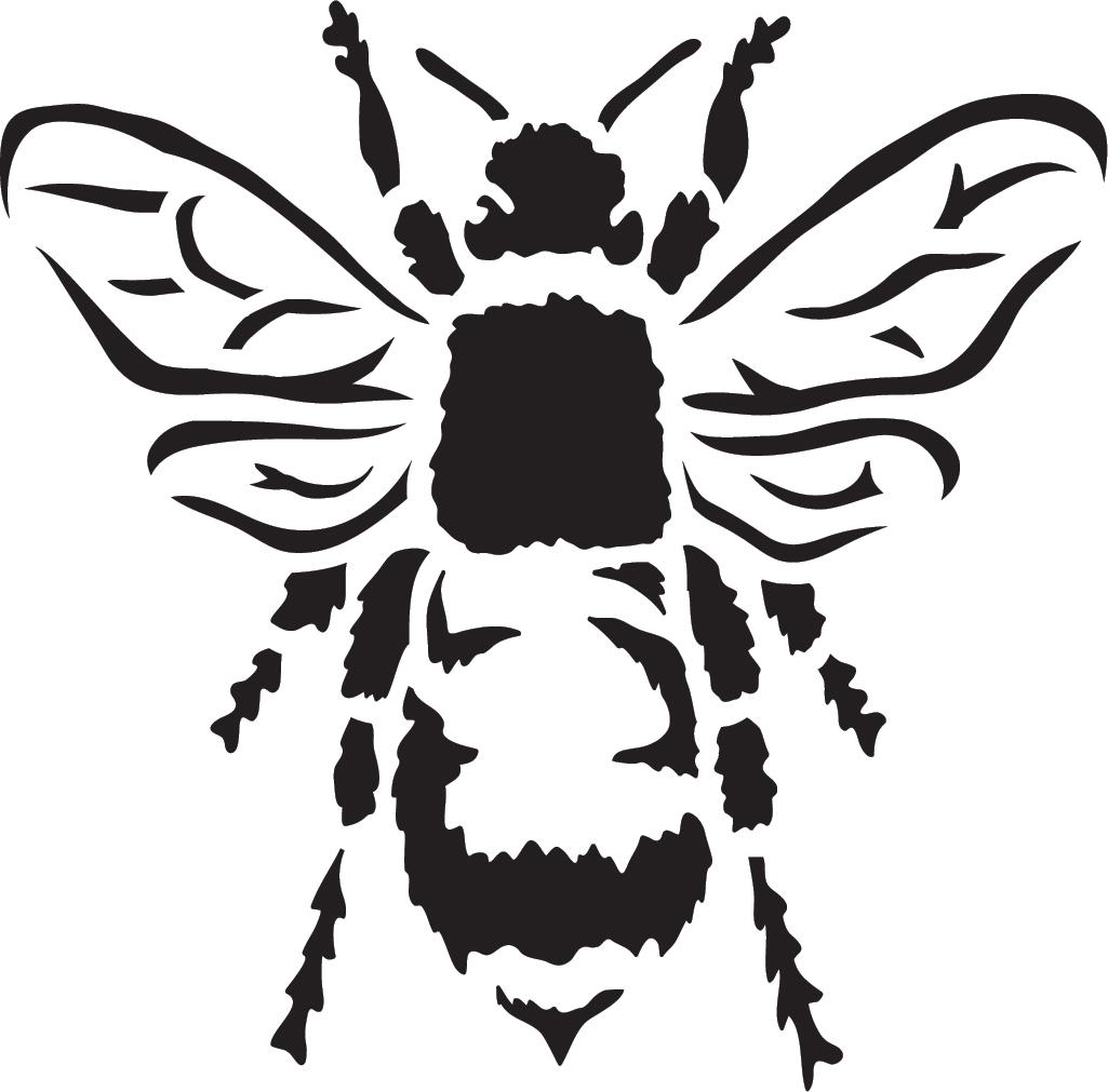 "Basic Bee - Art Stencil - 15"" x 15"""