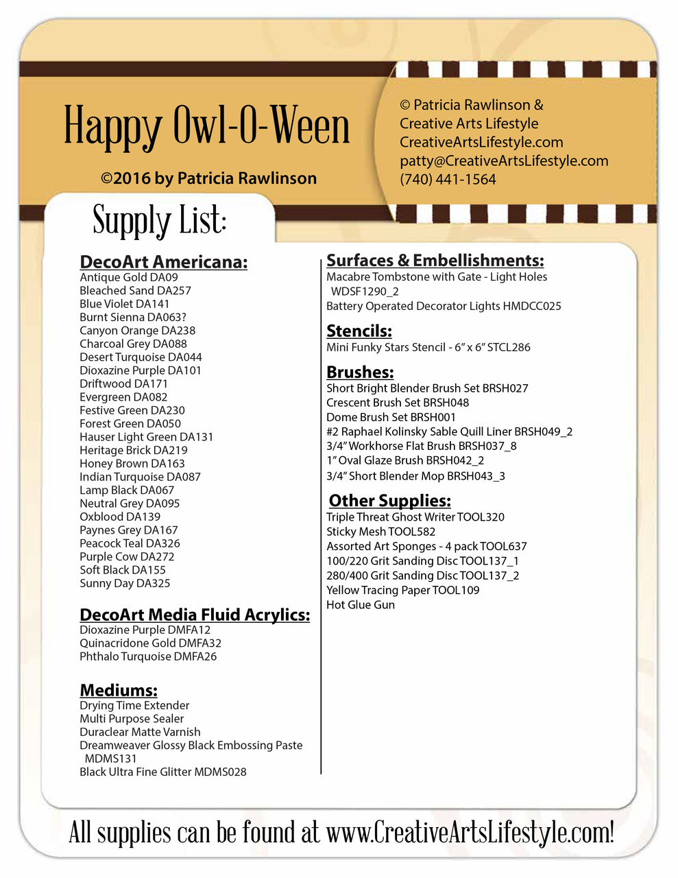 Happy Owl-O-Ween DVD and Pattern Packet - Patricia Rawlinson