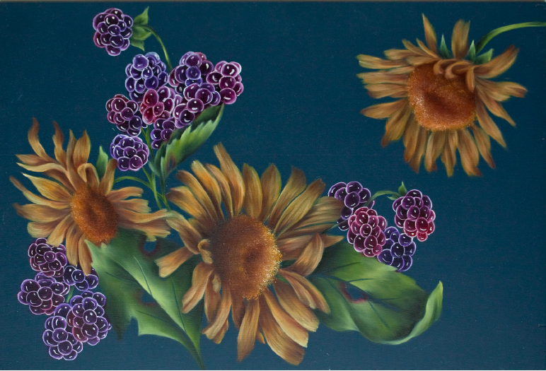 Sunflowers and Blackberries - E-Packet - Debra Welty