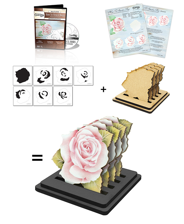 Elegant Rose Coaster Deluxe Set