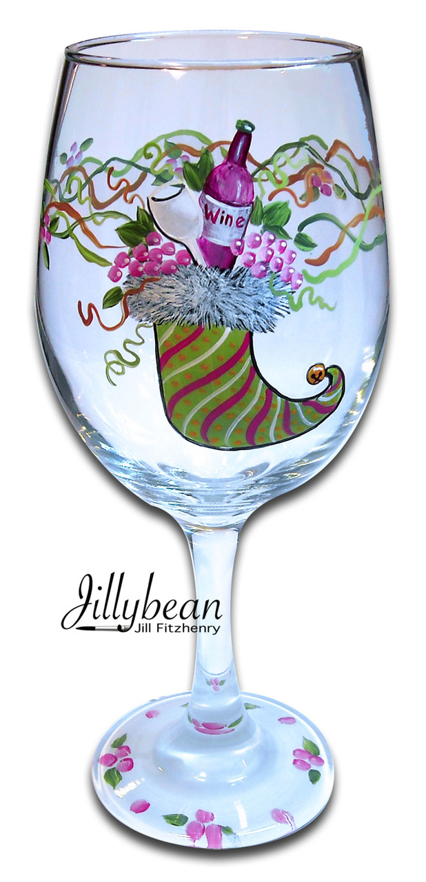 Stocking Wine Glass - E-Packet - Jill Fitzhenry