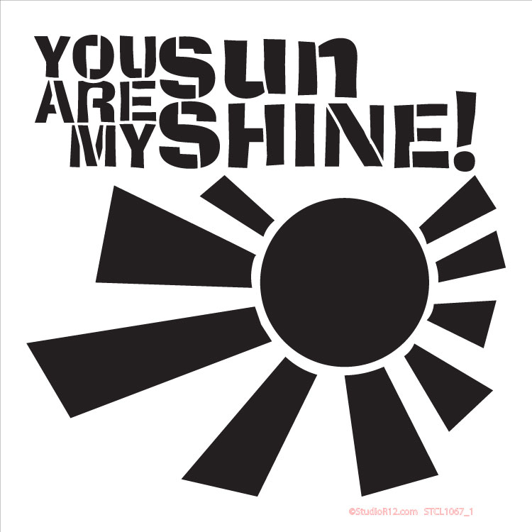 "Sunshine Word Stencil - 15"" x 15"""
