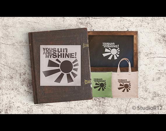 """Sunshine Word Stencil - 15"""" x 15"""""""