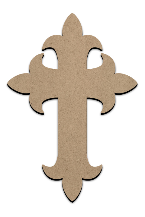 "Ornate Cross Surface - 10"" X 14.5"""