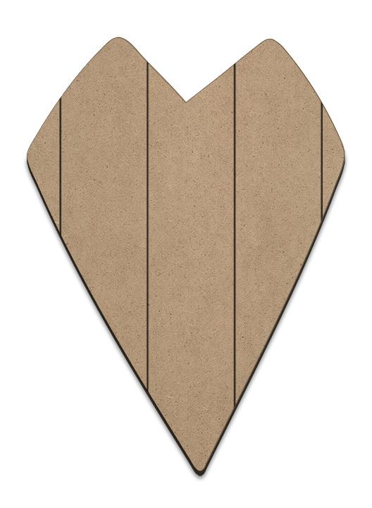 Primitive Heart Plaque - Vertical Slats - Medium