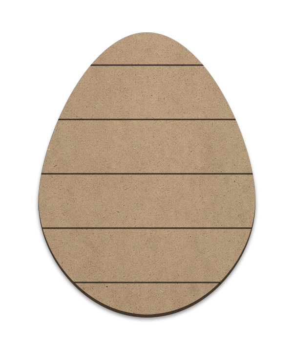 Egg Plaque - Horizontal Slats - Medium