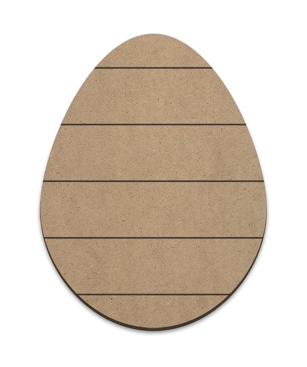 Egg Plaque - Horizontal Slats - Large