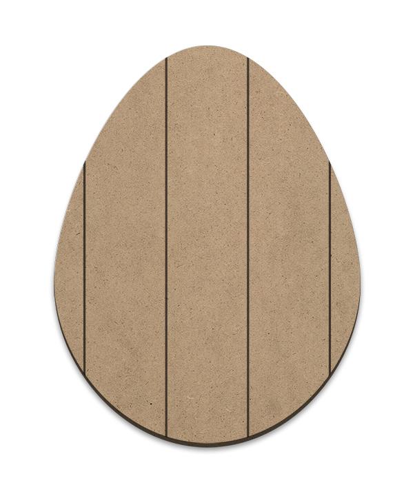 Egg Plaque - Vertical Slats - Medium
