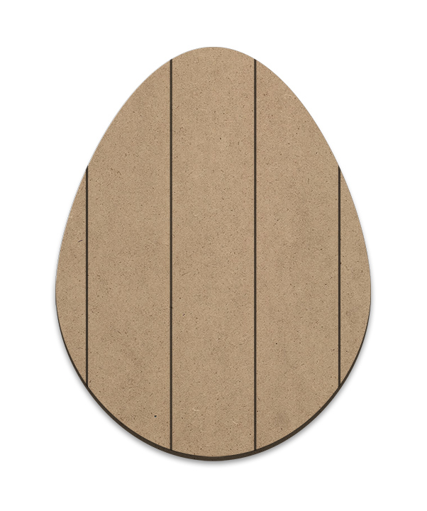 Egg Plaque - Vertical Slats - Large