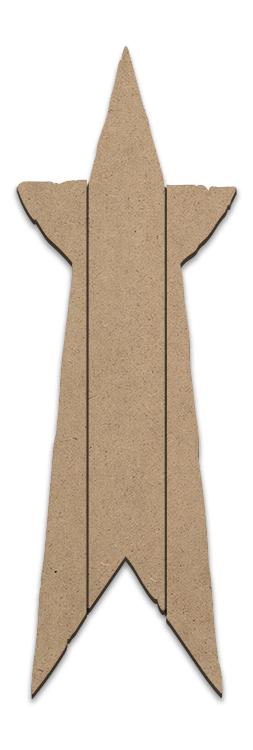 Rustic Star Plaque - Vertical Slats- Small