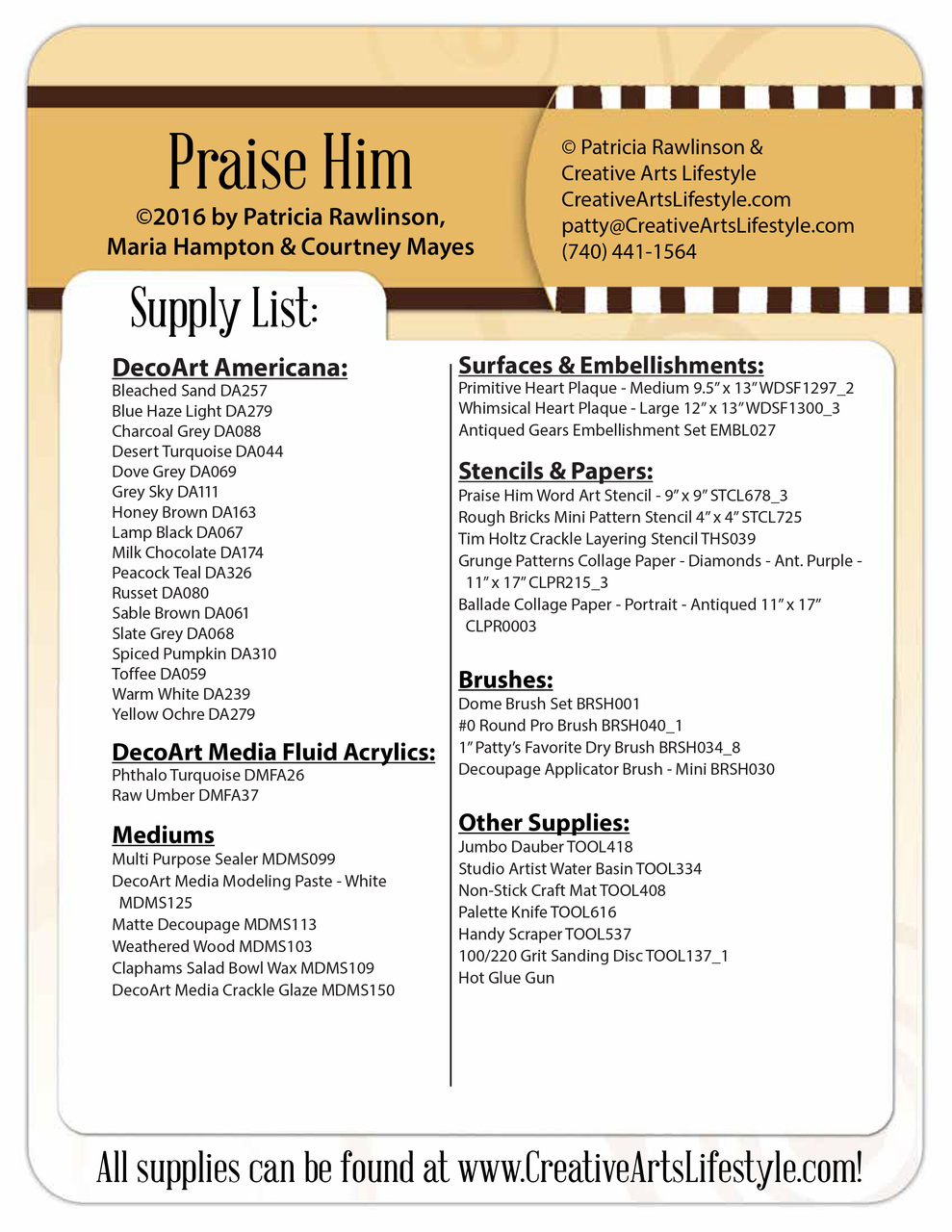 Praise Him - E-Packet - Patricia Rawlinson