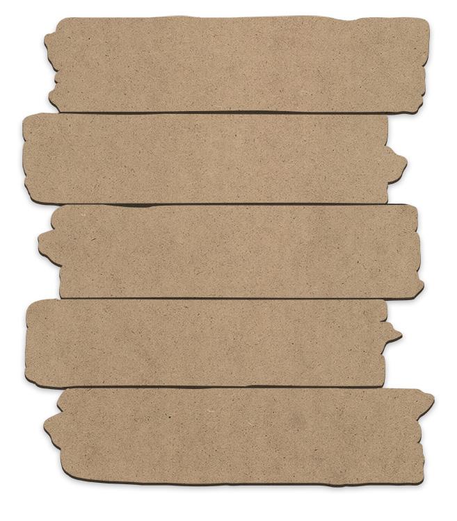 Rough Wood Plank Plaque - Medium
